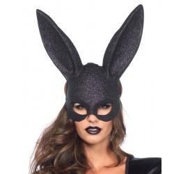 Maschera Nera Glitter da Coniglietta, Leg Avenue