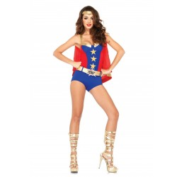Costume da Wonder Woman 3 pezzi, LA-85224 Leg Avenue