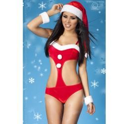 Sexy Body Natalizio con cappellino e polsini, cr-3717 Chilirose