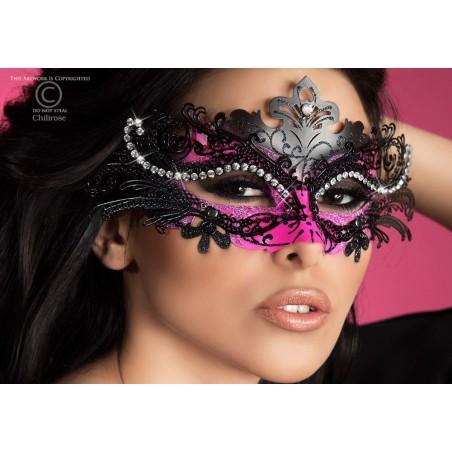 Maschera filigranata con strass, CR-3993 Chilirose