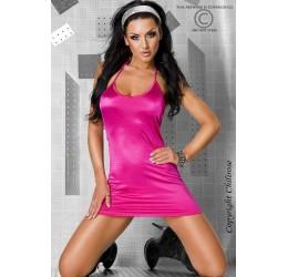 Sexy abitino rosa lucido tanga incluso Chilirose Lingerie