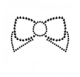 'Mimi bow' Gioiello adesivo nero per il seno Bijoux Indiscrets
