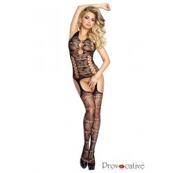 Sexy Bodystocking in rete nera stile guepiere, PR4694 Provocative Lingerie
