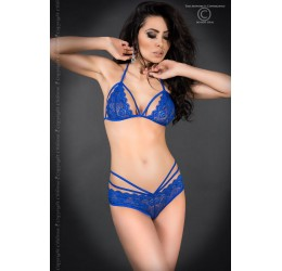 Sexy Completino in pizzo blu con stringhe, CR-3786 Chilirose