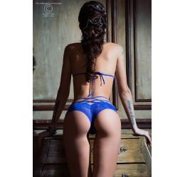 Sexy Completino in pizzo blu con stringhe, CR-3786 Chilirose