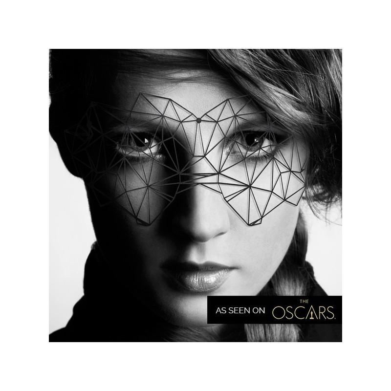 Mascherina nera in vinile 'Kristine' Bijoux Indiscrets'