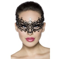 Maschera metallica filigranata decorata con strass