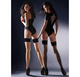 Sexy Calze autoreggenti velate con balza nera 'Lovia' da Gabriella