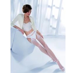 Sexy Collant bianchi velati con aperture 'Princessa' da Gabriella