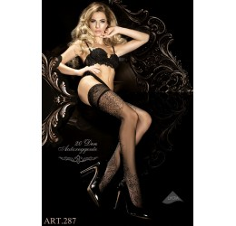 Calze Autoreggenti nere 20 denari, Ballerina Collection