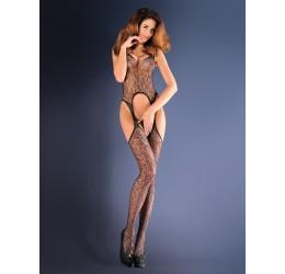 Sexy Bodystocking in microrete con ricami 'Paloma' da Gabriella