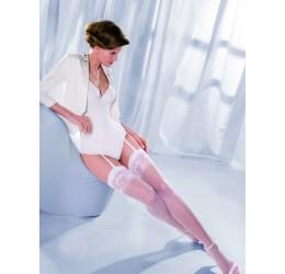 Sexy Calze bianche per reggicalze velate con ricami 'Princessa' da Gabriella