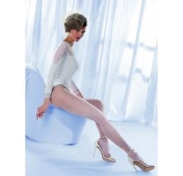 Sexy Collant bianchi velati con riga posteriore 'Charme' da Gabriella