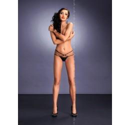 Sexy Perizoma nero in lycra con stringa doppia 'Palmira' Me Seduce