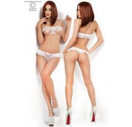 Sexy Completino Intimo bianco 2 pezzi seno scoperto, CR-3991 Chilirose