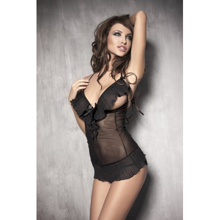 Sexy chemise e perizoma nero 'Caprice' da Anais Lingerie