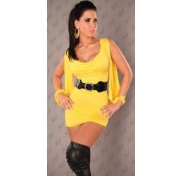 Mini Abito giallo con cintura taglia unica 40/44