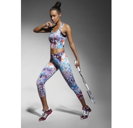 Leggings al polpaccio in fantasia multicolor 'Caty' Bas Bleu