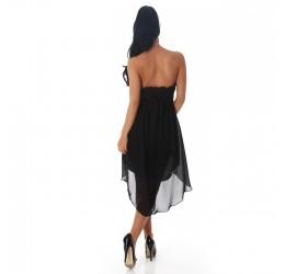 Stupendo mini abito nero asimmetrico taglia unica