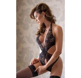 Sexy Body nero in pizzo con fiocco 'Silvia' da Softline