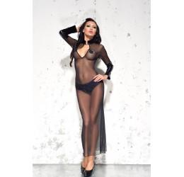 Sexy Abito Lungo nero in tulle con culotte 'Sarah' Me Seduce