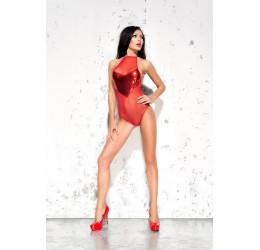 Sexy Body rosso in tulle con inserto lucido 'Emma' Me Seduce
