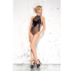 Sexy Body nero in tulle con inserto lucido 'Emma' Me Seduce