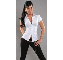 Sexy Camicetta bianca con stringatura posteriore
