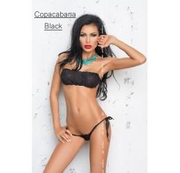 Sexy Micro Bikini in lycra nera/glitter argento, Me Seduce