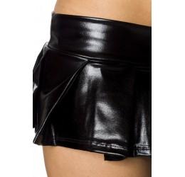 Sexy Completino nero Top Minigonna e Calze