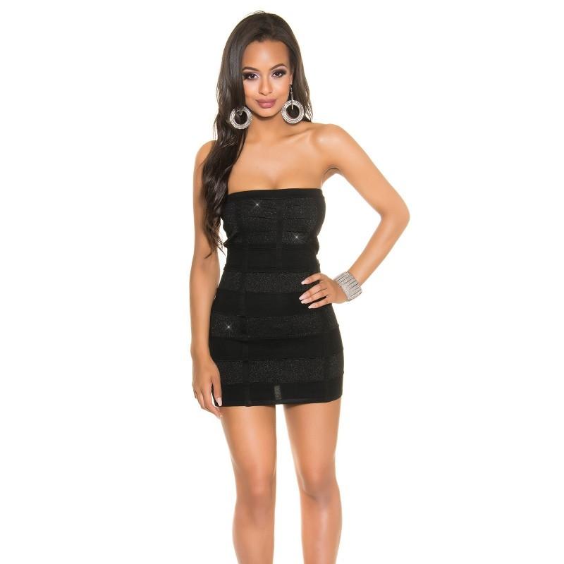 design senza tempo 7f160 6bc7f Sexy Tubino nero a costine opache/glitter Taglia unica 38/42 | Vestiti Sexy  | Rosanerastore