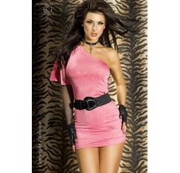Sexy Mini abito rosa monospalla asimettrico da Chilirose