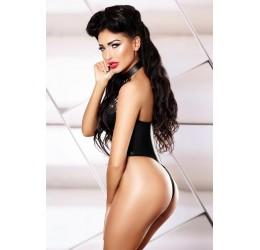 Sexy Body in tessuto lucido nero 'Daring' Lolitta Lingerie