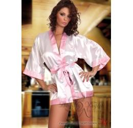 Vestaglia Sexy in raso kimono e tanga 'Maggie' intimo Beauty Night Fashion