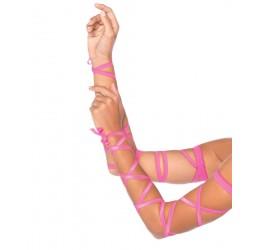 Bellissimi Copribraccia rosa neon in stringhe elastiche, la-3729 Leg Avenue