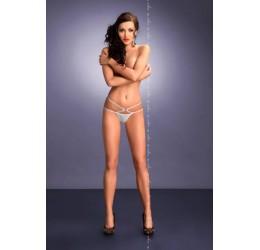 Sexy Perizoma bianco in lycra con stringa doppia 'Palmira' Me Seduce