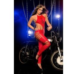Sexy Tuta rossa lucida stringata da Espiral Lingerie