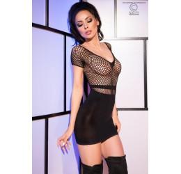 Sexy Mini Abito nero con parte superiore in rete