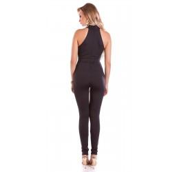 Stupenda Tuta nera in lycra con zip posteriore