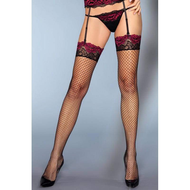 Sexy Calze a rete nere per reggicalze 'Perry' da LivCo
