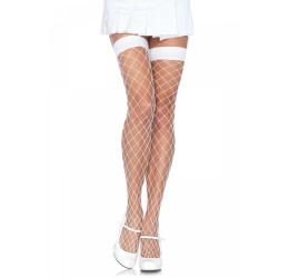 Sexy calze autoreggenti a rete bianche, Leg Avenue