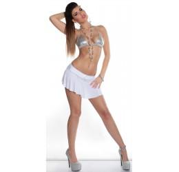 Minigonna bianca con mutandina incorporata tg.38/44