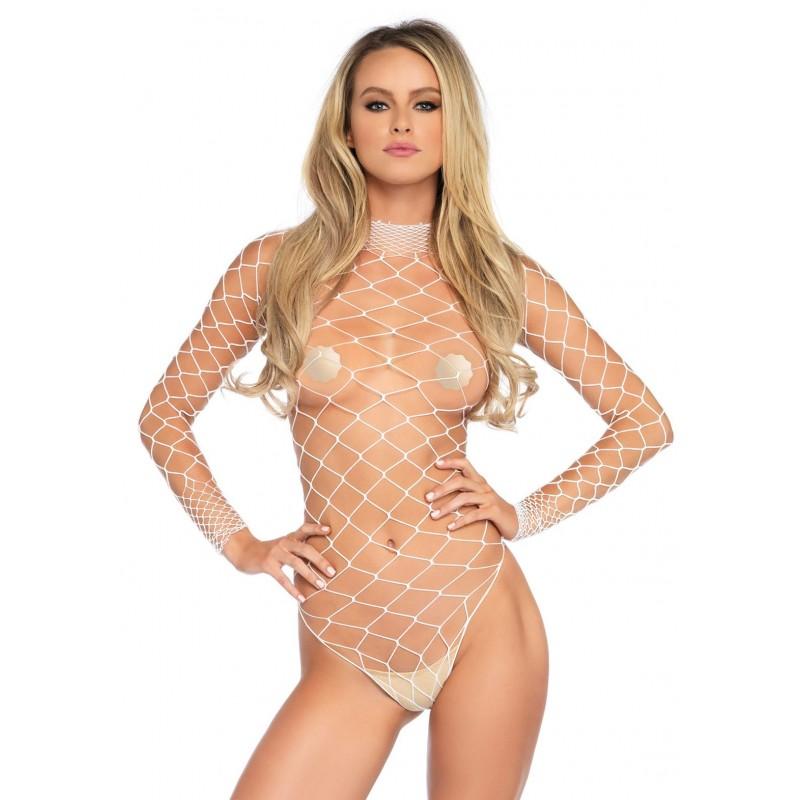 Sexy Body bianco in rete, la89210 Leg Avenue
