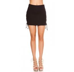 Sexy minigonna nera con stringhe laterali