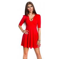 Elegante Abitino Rosso a mezze maniche scollato a V