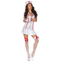Sexy Costume da Infermiera la83050 Leg Avenue