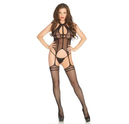 Sexy Bodystocking nera in rete, Leg Avenue LA89194