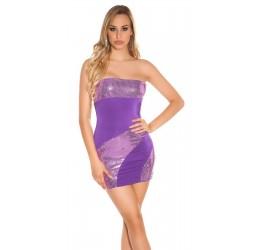 Sexy mini abito tubino viola tg. 40/44