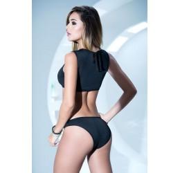 Sexy Completino nero in lycra top e mutandine | 2471 Mapalé