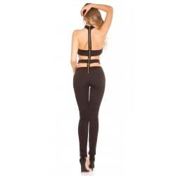 Sexy Tuta nera con zip posterior taglia unica